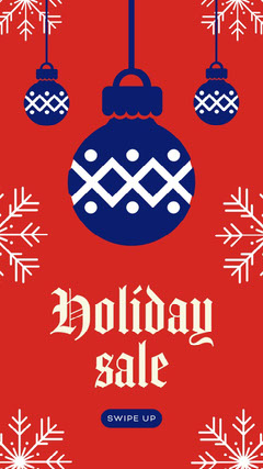 red and blue holiday sale instagram story Holiday Sale