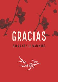 orchids and red wedding thank you cards Tarjetas de agradecimiento de boda