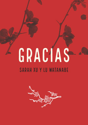 orchids and red wedding thank you cards Tarjeta de agradecimiento