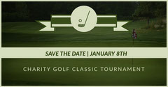 Green Charity Tournament Facebook Page Cover Golf Tournament Flyer