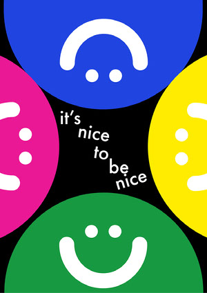 playful smiley A3 poster A3 Size Posters
