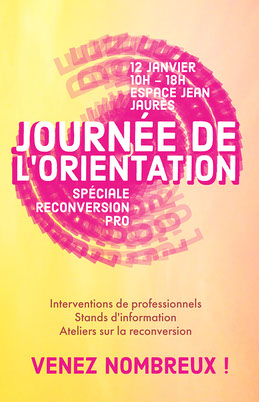 Yellow and Pink Circle Orientation Day Poster Prospectus