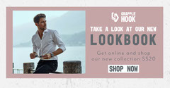 Dusky Pink Grapple Hook Facebook Cover New Collection