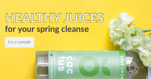 Green and Yellow Healthy Juices Advertisement Ads Banner