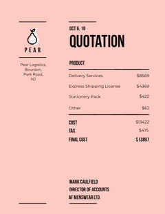 pear business quotation Tax Flyer