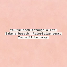 Simple Sweet Pink Typewriter Quote On Textured Paper