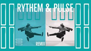 White and Blue Rythem and Pulse Banner Music Banner
