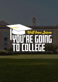 Dark Grey Well Done College Card College