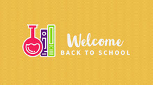 Yellow and White Welcome Back School Facebook Cover Portada de Facebook