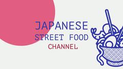 japanese street food youtube channel art Ramen