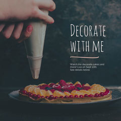Decorate with me Cakes