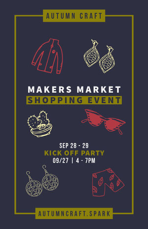 MAKERS MARKET<BR>SHOPPING EVENT Veranstaltungsplakat