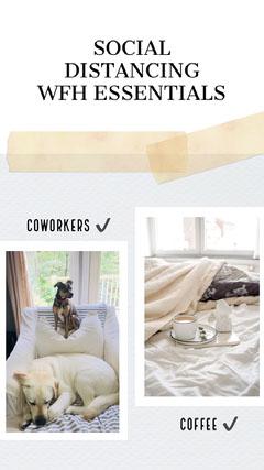 Coronavirus Social Distancing Instagram Story Sweet Home