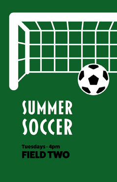 Summer Soccer Poster Sports