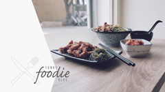 Grey Foodie Blog Banner Cooking