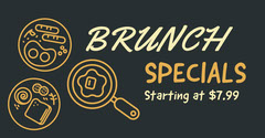 Orange and Black Restaurant Flyer Brunch