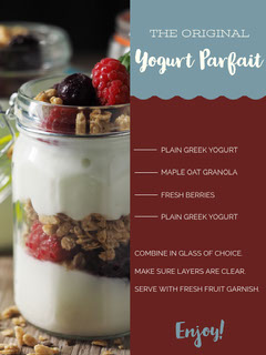 Yogurt Parfait Recipe Card Fruit