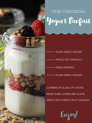 Yogurt Parfait Recipe Card 조리법 카드