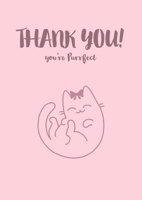 THANK YOU! Thank You Card