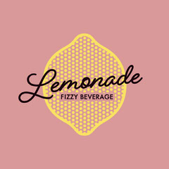 Pink and Yellow Lemonade Brand Logo Instagram Square Juice