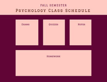 Psychology Class Schedule 行程表