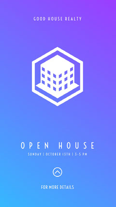 Blue and White Open House Social Post Sunday