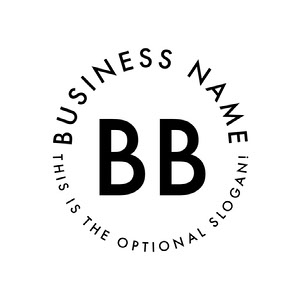 Black and White Business Logo with Circular Text Logo Circulaire