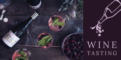 Violet Wine Tasting Social Post Wine Tasting Flyer