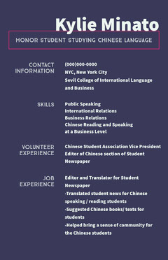 White and Violet Professional Resume Educational Course