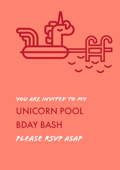 Red and Pink Birthday Invitation Birthday Bash
