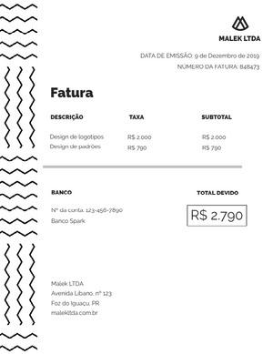 design invoice  Fatura