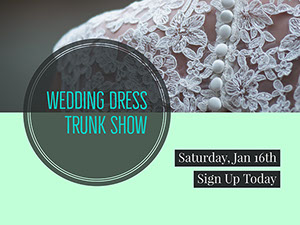 Grey and Light Green Wedding Dress Show Facebook Banner  Bröllopsbanners