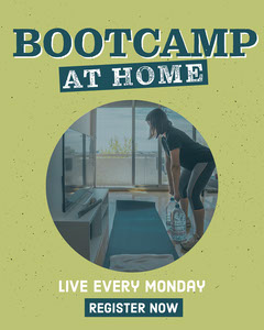 Green & Blue Bootcamp At Home Instagram Portrait Workout