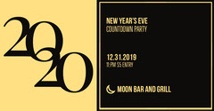 Yellow and Black New Year's Eve Bar Party Facebook Post Graphic Countdown