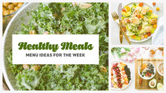 Green Healthy Meals Collage Blog Banner Healthy