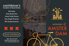 Black and Orange Amsterdam Brochure Vacation