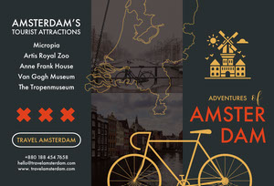 Black and Orange Amsterdam Brochure Brochure