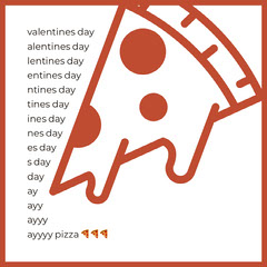 Valentines Day and Pizza Instagram Square Meme Pizza