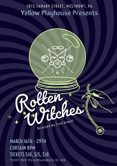 rotten witches play A3 poster Play Poster