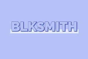 Blue Blacksmith Business Brand Logo Etikett