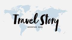 Blue, White and Black, Travel You Tube Blog Banner Adventure