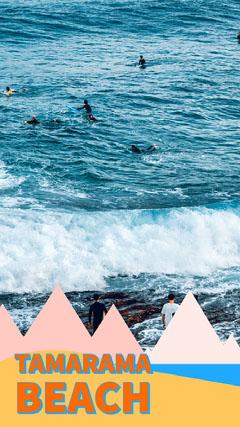 Colourful Beach Scene Tamarama Beach Snapchat Filter  Beach