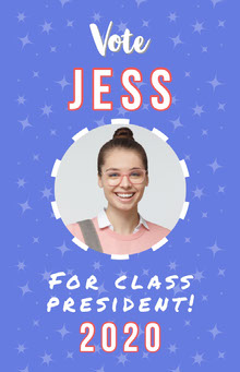 Blue Class President Poster School Posters