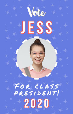 Blue Class President Poster Election