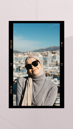 Muslim Woman in Hijab Photo in Photography Film Frame Instagram Story