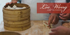 Asian Chef LinkedIn Banner with Dumplings Chef