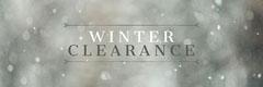 Grey Winter Sale Snow Web Banner Promotion