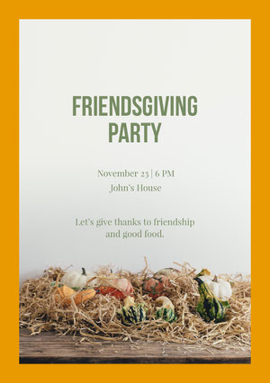 Friendsgiving party Invitation à une fête