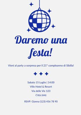 Daremo una festa! Invito al compleanno