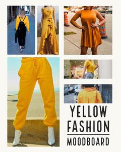 Yellow Fashion Instagram Portrait Yellow